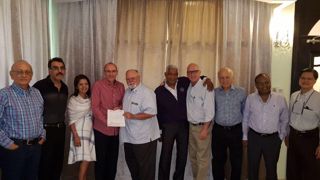 Donation to the Cristóbal – ColónRotary Club